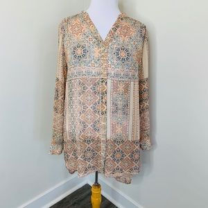 🎉5 for $25🎉 Beautiful Boho Tunic Button Down